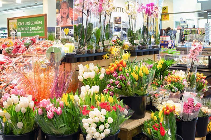 Frische Blumen kaufen im EDEKA in München