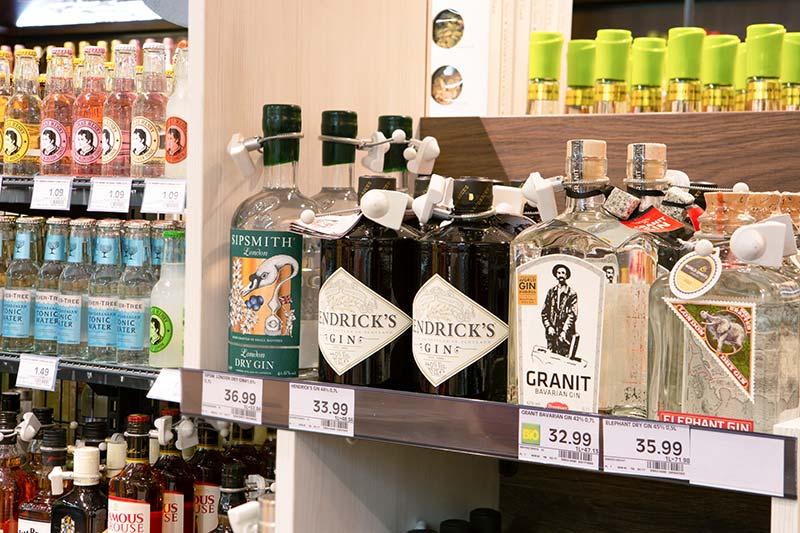 Unser Gin-Sortiment im EDEKA in München